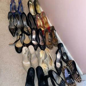 Lot of 13 pairs of shoes